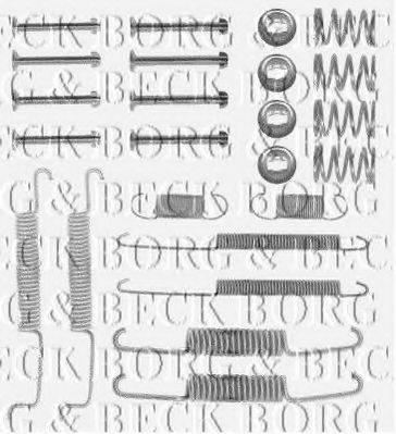 BORG & BECK BBK6121 Комплектующие, колодки дискового тормоза