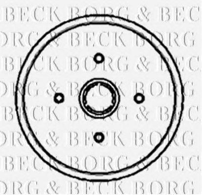 BORG & BECK BBR7001 Тормозной барабан