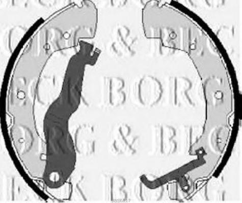 BORG & BECK BBS6017 Тормозные колодки барабанные