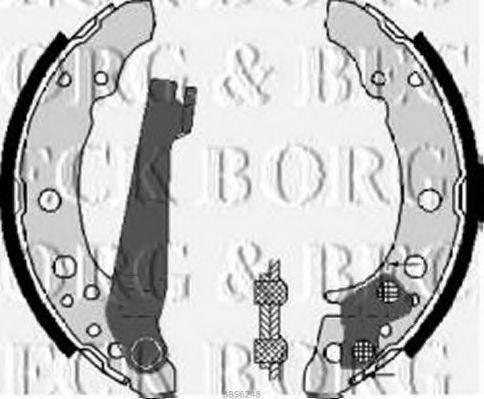 BORG & BECK BBS6248 Тормозные колодки барабанные