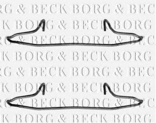 BORG & BECK BBK1040 Комплектующие, колодки дискового тормоза