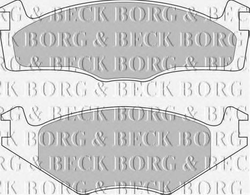 BORG & BECK BBP1531 Тормозные колодки
