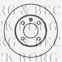 BORG & BECK BBD4168 Тормозной диск