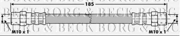 BORG & BECK BBH7187 Тормозной шланг