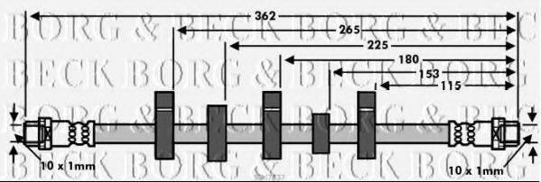 BORG & BECK BBH7537 Тормозной шланг