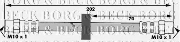 BORG & BECK BBH6024 Тормозной шланг