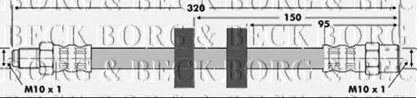 BORG & BECK BBH6416 Тормозной шланг