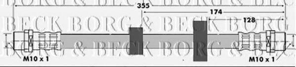 BORG & BECK BBH6425 Тормозной шланг