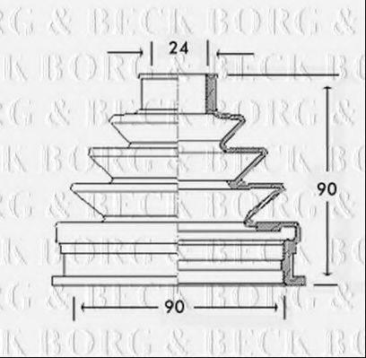 BORG & BECK BCB2255 Пыльник ШРУСа