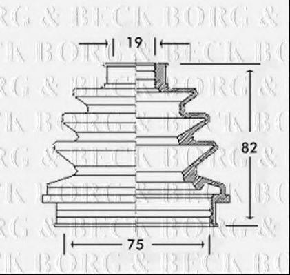 BORG & BECK BCB2260 Пыльник ШРУСа