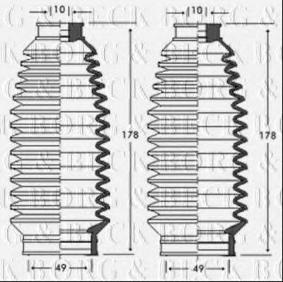 BORG & BECK BSG3236 Пыльник рулевой рейки