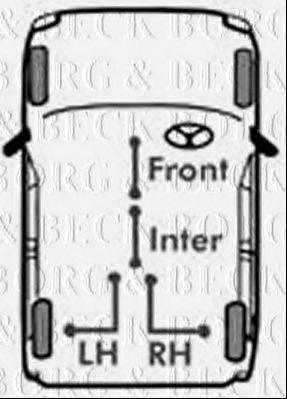BORG & BECK BKB1894 Трос, стояночная тормозная система