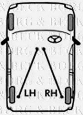 BORG & BECK BKB2384 Трос, стояночная тормозная система