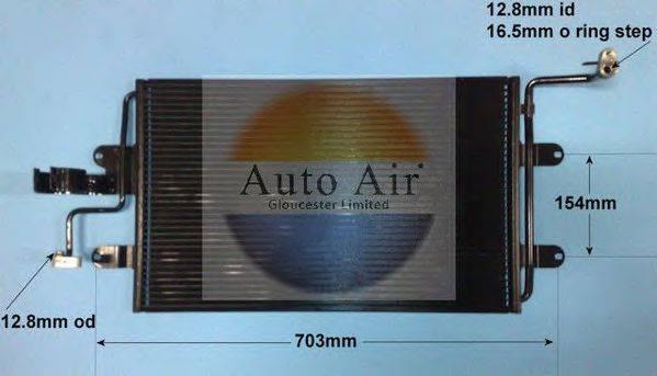AUTO AIR GLOUCESTER 169560A Конденсатор кондиционера