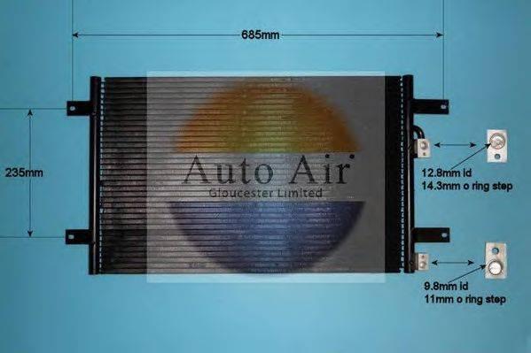 AUTO AIR GLOUCESTER 168692 Конденсатор кондиционера