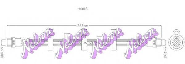 BROVEX-NELSON H6018 Тормозной шланг