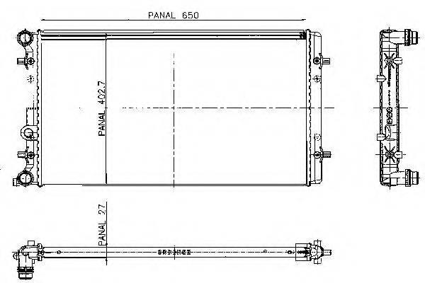 ORDONEZ 1020674809 Радиатор охлаждения двигателя