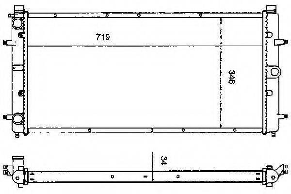 ORDONEZ 2060188 Радиатор охлаждения двигателя