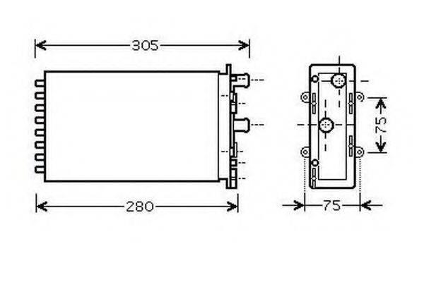 ORDONEZ 2061938 Радиатор печки
