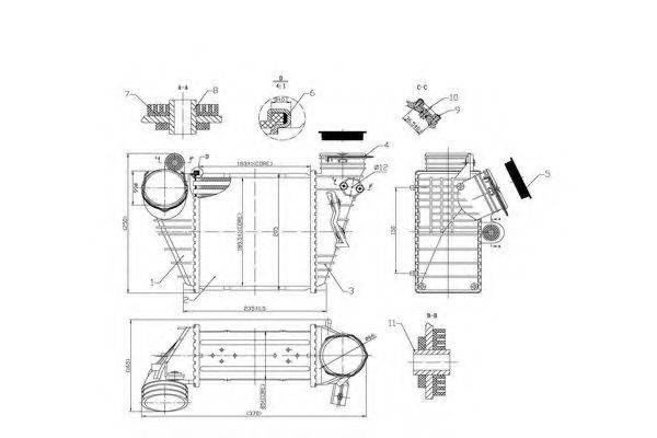ORDONEZ 2066552 Интеркулер