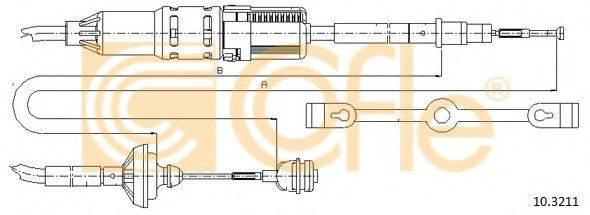 COFLE 103211 Трос сцепления