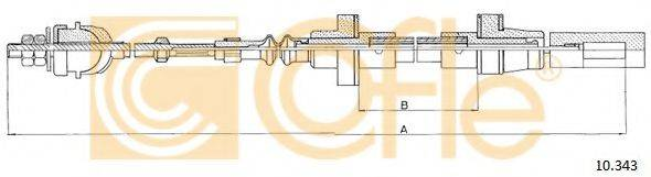 COFLE 10343 Трос сцепления