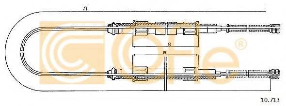 COFLE 10713 Трос, стояночная тормозная система