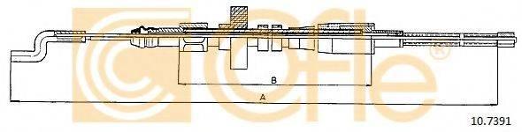 COFLE 107391 Трос, стояночная тормозная система