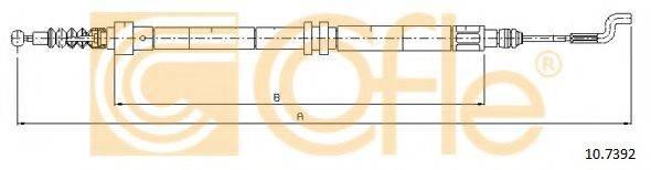 COFLE 107392 Трос, стояночная тормозная система