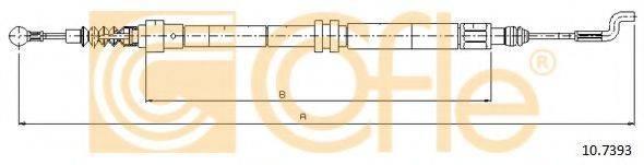 COFLE 107393 Трос, стояночная тормозная система