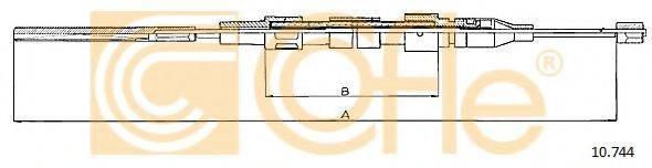 COFLE 10744 Трос, стояночная тормозная система