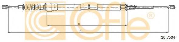 COFLE 107504 Трос, стояночная тормозная система