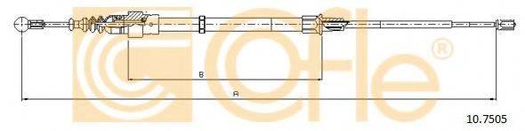 COFLE 107505 Трос, стояночная тормозная система