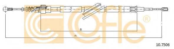COFLE 107506 Трос, стояночная тормозная система