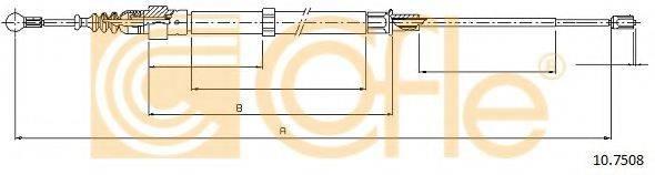 COFLE 107508 Трос, стояночная тормозная система