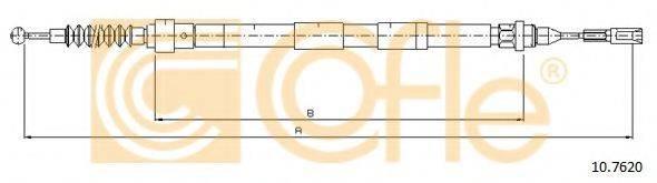COFLE 107620 Трос, стояночная тормозная система