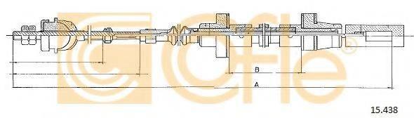 COFLE 15438 Трос сцепления