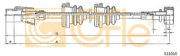 COFLE S31010 Тросик спидометра