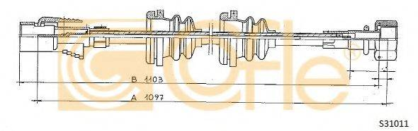 COFLE S31011 Тросик спидометра
