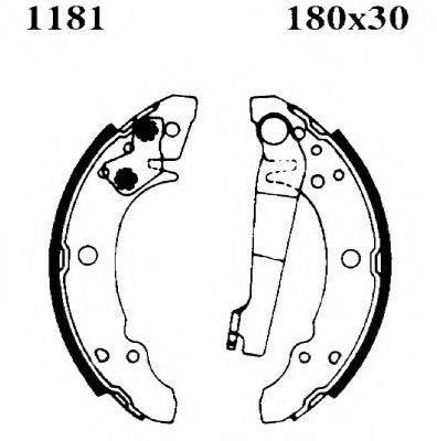 BSF 6035 Комплект тормозов, барабанный тормозной механизм
