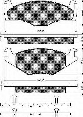 BSF 10212 Тормозные колодки