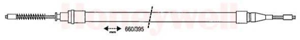 BENDIX 431180B Трос, стояночная тормозная система
