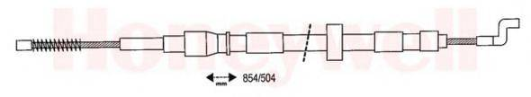 BENDIX 432052B Трос, стояночная тормозная система