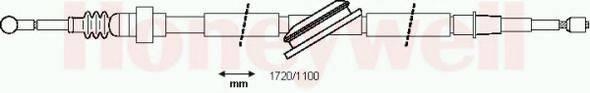 BENDIX 432838B Трос, стояночная тормозная система