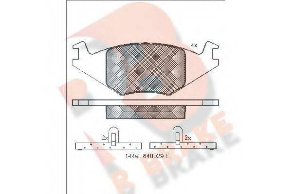 R BRAKE RB0461 Тормозные колодки