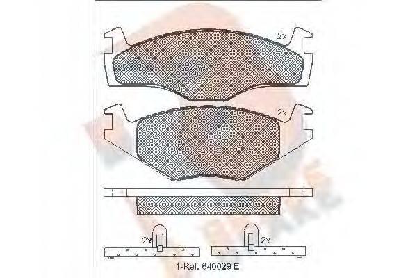 R BRAKE RB1048 Тормозные колодки