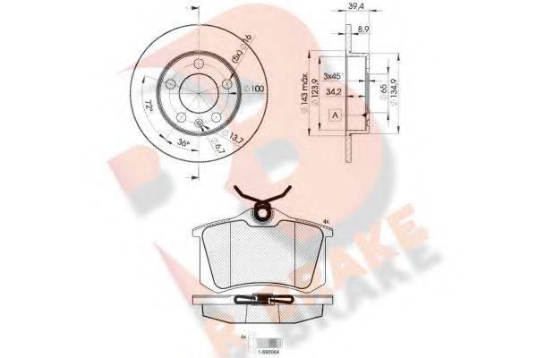 R BRAKE 3R06975601 Комплект тормозов, дисковый тормозной механизм
