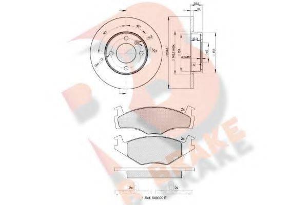 R BRAKE 3R10483325 Комплект тормозов, дисковый тормозной механизм