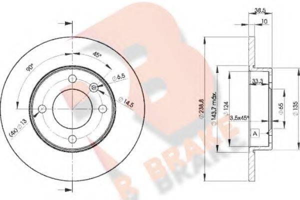R BRAKE 78RBD23325 Тормозной диск
