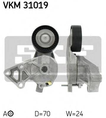 SKF VKM31019 Натяжной ролик, поликлиновой  ремень